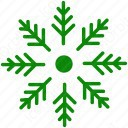 Green Snowflake icon